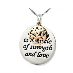 Family is a Circle of Strength Necklace- Free Shipping