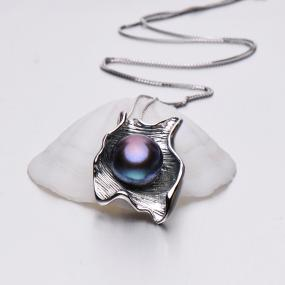 One of a Kind Sterling Silver Black Pearl Pendant Necklace