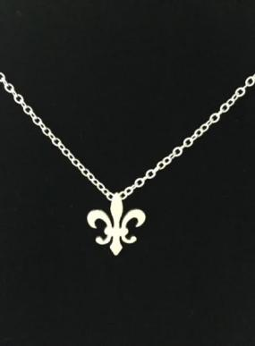 Fleur-De-Lis Charm Necklace in Silver or Gold - FREE SHIPPING
