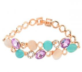 Opal and Crystal Bracelet - Free Shipping