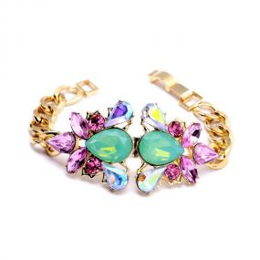 Glam Statement Bracelet in Gold - Free Shipping