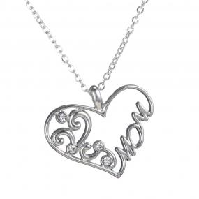 Mom Heart Pendant Necklace - Free Shipping