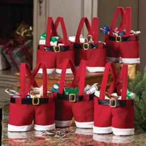 Santa Treat Bags for Gifts, Centerpieces, or Parties - Free Shipping