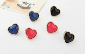 Petite Heart Earrings in 3 Colors - Free Shipping