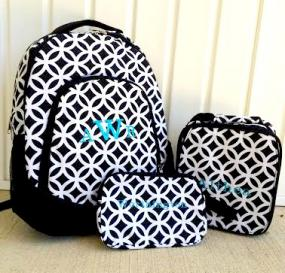 Set of 3 Personalized Backpack, Lunch Box and Pencil Case