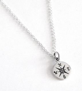 Not All That Wander are Lost Compass Necklace