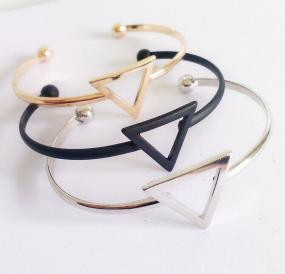 Acute Triangle Cuff Bracelet - Free Shipping