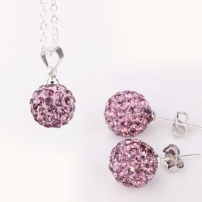 Shamballa Jeweled Necklace or Earrings - Free Shipping