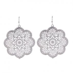 Parisienne Filigree Earrings in Silver or Gold - Free Shipping