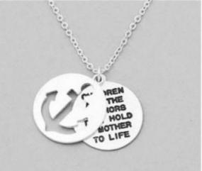 Anchor Message Pendant Necklace - Free Shipping