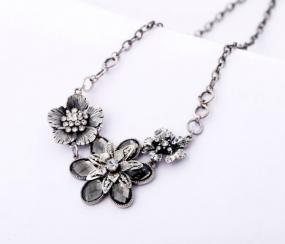 Vintage Style Floral Statement Necklace