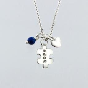 Autism Hope Puzzle Pendant- Free Shipping