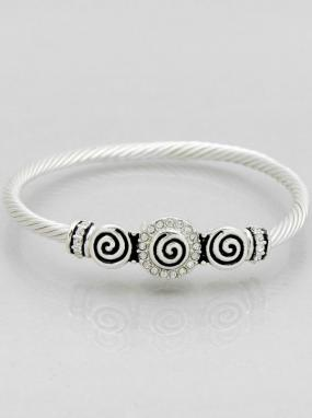 Pave Swirl Magnetic Bracelet - Free Shipping