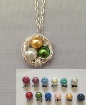 Custom Birdsnest Necklace... Flat Rate Shipping