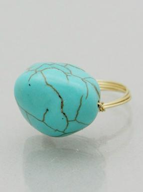 Turquoise Triple Wire Ring - Free Shipping