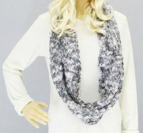 Multicolored Soft Fur Infinity Scarf - Free Shipping