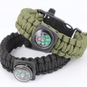 Camping Paracord With Compass And Flint - Free Shipping