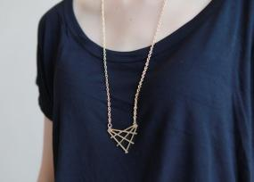 Criss-Cross Triangle Necklace - Free Shipping