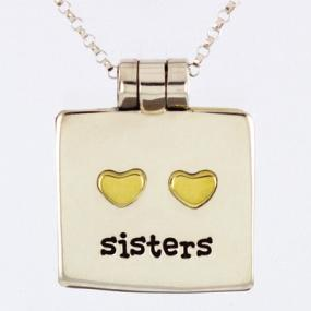 Sisters Locket Necklace - Free Shipping