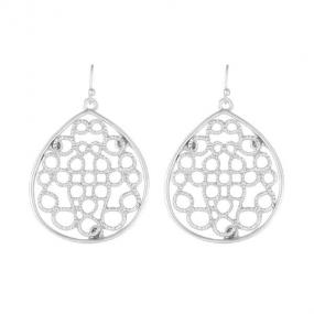 Filigree Dangle Earrings in Silver or Gold - Free Shipping
