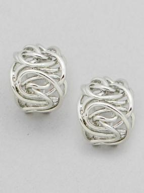 Wide Tangled Wire Earrings - Free Shipping