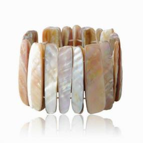 Mother of Pearl Stretch Bracelet - Free Shipping