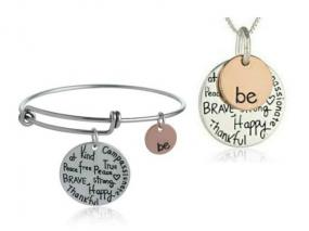 Inspirational Be Necklace or Bracelet - Free Shipping