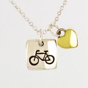 Bicycle Pendant Necklace - Free Shipping
