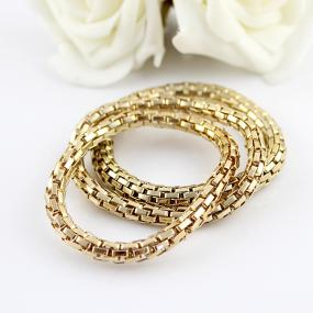 Polished Chain Stretch Bracelet - Free Shipping