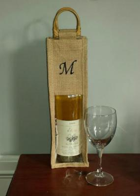 Personalized Hostess Jute Wine Bags - Free Shipping