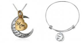 Love You To The Moon And Back Expandable Bracelet or Necklace - Free Shipping