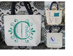 State Love and Monogrammed Tote Bags