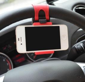 Universal Steering Wheel Cell Phone Mount - Free Shipping