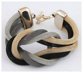Limited Stock- Mixed Metal Mesh Bracelet