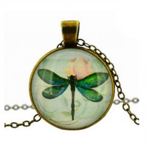 Cabochon Dragonfly Necklace