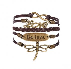 Black Friday Special - Dragonfly Wrap Bracelet - Free Shipping