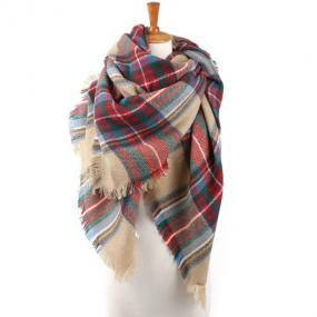 Plaid Blanket Scarf - Free Shipping