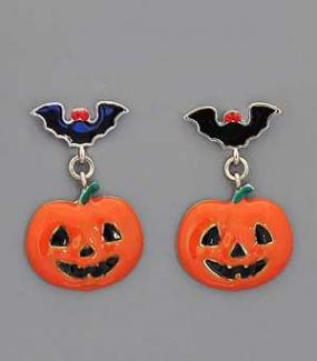 Deals for a Penny, Just Pay Shipping - Pumpkin Earrings