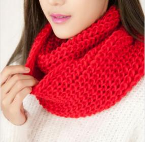 Cotton Blend Infinity Scarf in Five Colors