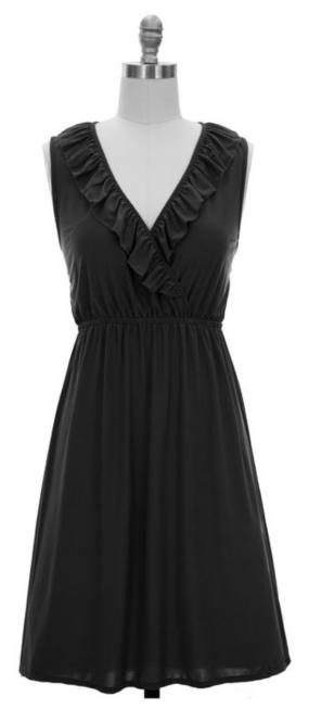 Black Friday Special - Classic Black Dress for Day or Night - Free Shipping