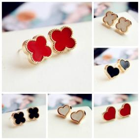 Deals for a Penny, Just Pay Shipping - Clover and Heart Stud Earrings