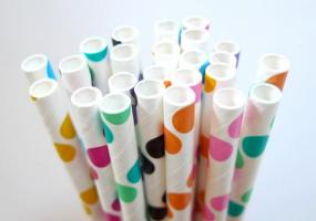 Deals for a Penny, Just Pay Shipping - Set of Chevron or Polka Dot Paper Straws