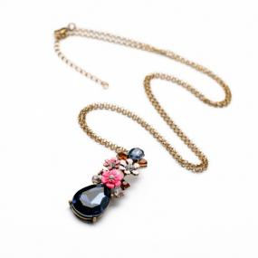 Floral Waterdrop Statement Necklace- FREE SHIPPING