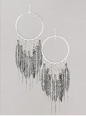 Motif Leaf Dangle Earrings....FREE SHIPPING