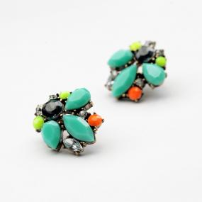 Trendy Jeweled Cluster Earrings.....FREE SHIPPING