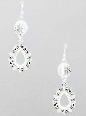 Glass and Bead Dangle Earring