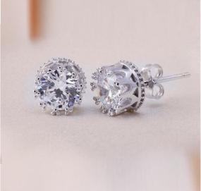 Swarovski Elements Crown Stud Earrings.....FREE SHIPPING
