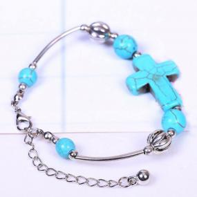 Faith on Hand Turquoise Bracelet