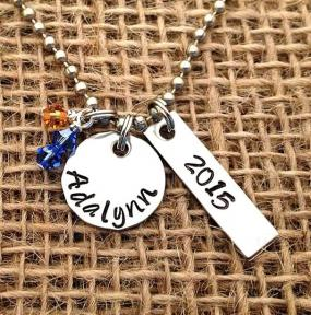 Personalized Graduation Gift 2015 Hand Stamped On Stainless Steel