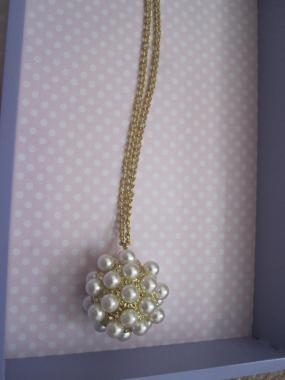 Pearl Ball Pendant Necklace - Quick & Free Shipping!!